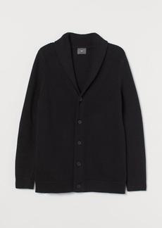 H&M H & M - Shawl-collar Cardigan - Black