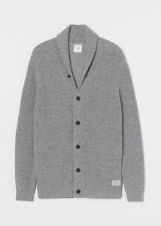 H&M H & M - Shawl-collar Cardigan - Gray