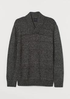 H&M H & M - Shawl-collar Sweater - Gray