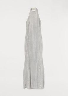 H&M H & M - Shimmering Halterneck Dress - White