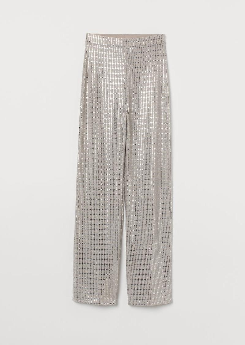 H&M H & M - Shimmering Pants - Beige