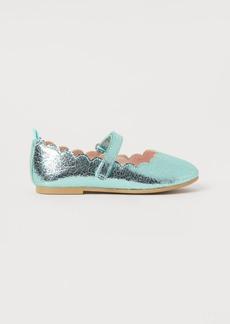 H&M H & M - Shimmery Ballet Flats - Green