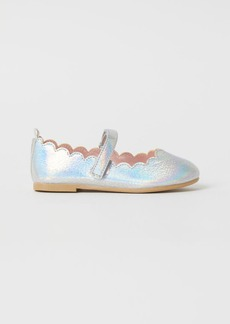 H&M H & M - Shimmery Ballet Flats - Silver