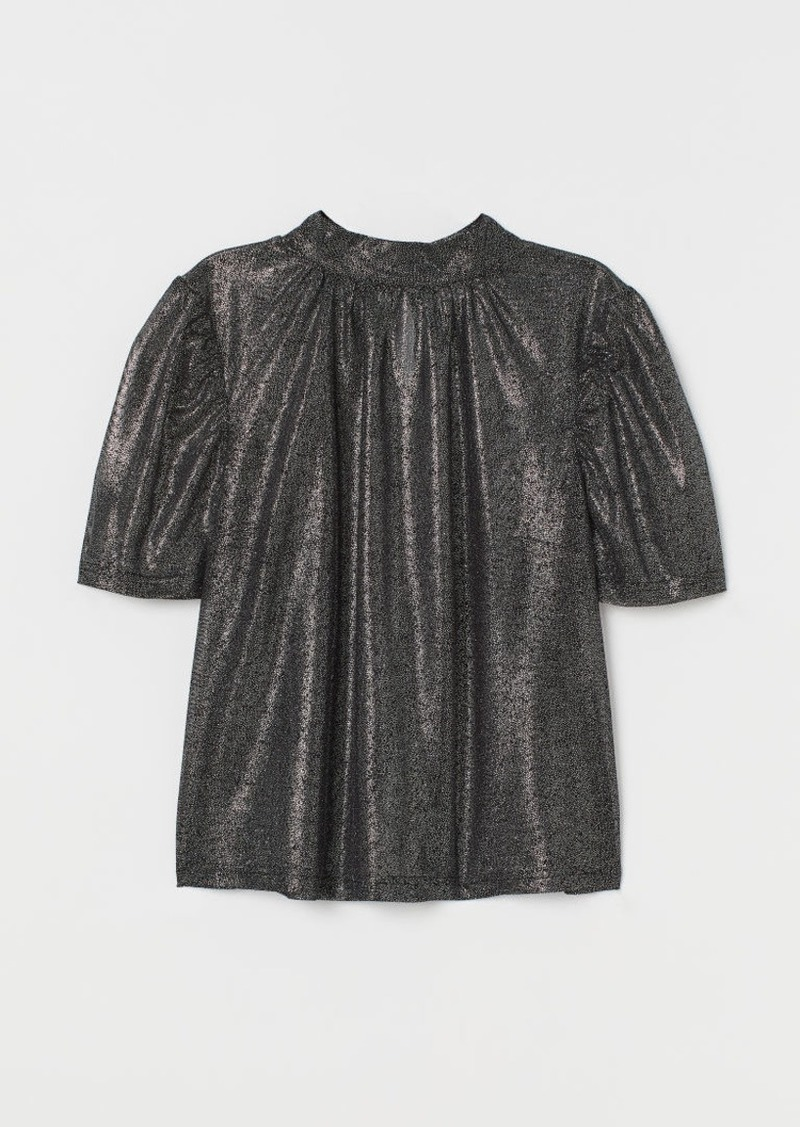 H&M H & M - Shimmery Blouse - Silver