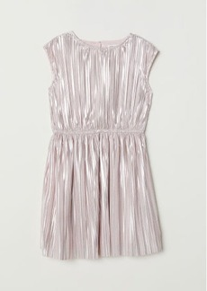 H&M H & M - Shimmery Metallic Dress - Pink
