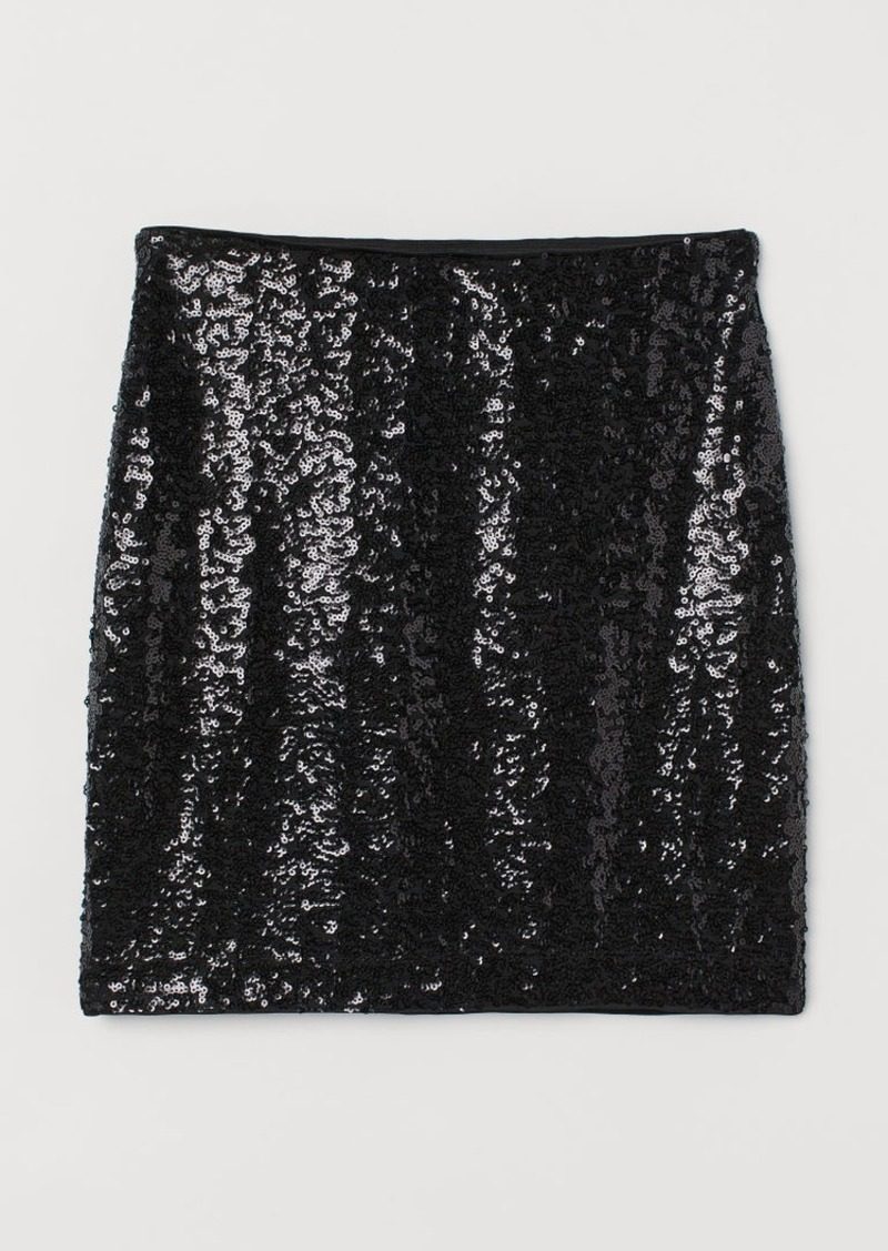 H&M H & M - Shimmery Skirt - Black
