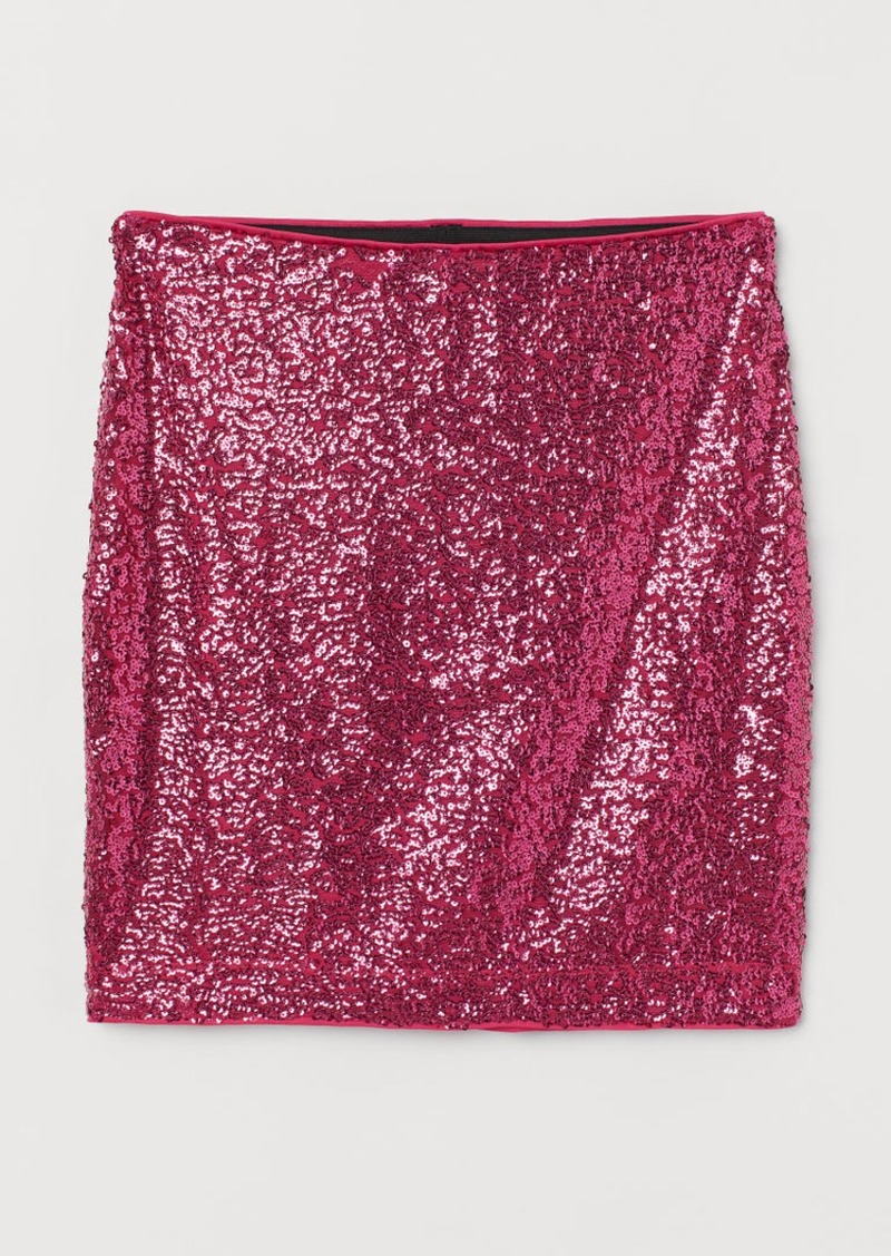 H&M H & M - Shimmery Skirt - Pink