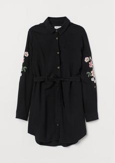 H&M H & M - Shirt Dress with Belt - Black