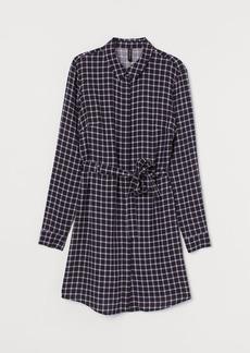 H&M H & M - Shirt Dress with Tie Belt - Black