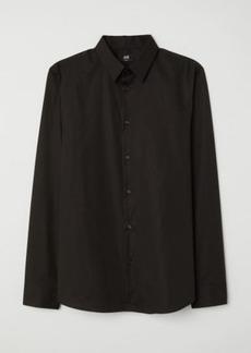 H&M H & M - Shirt Muscle Fit - Black