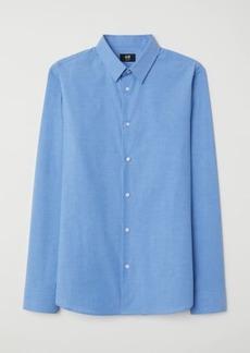 H&M H & M - Shirt Muscle Fit - Blue