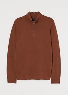 H&M H & M - Shirt with Zip - Beige