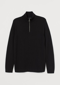 H&M H & M - Shirt with Zip - Black