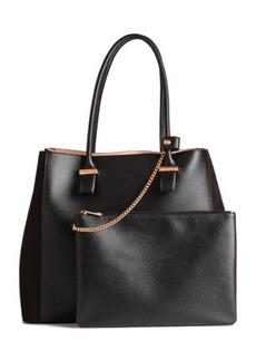 H&M H & M - Shopper and clutch - Black