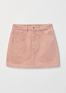 H&M H & M - Short Corduroy Skirt - Orange