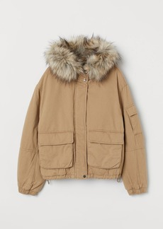 H&M H & M - Short Cotton Parka - Beige