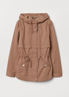 H&M H & M - Short Cotton Parka - Pink