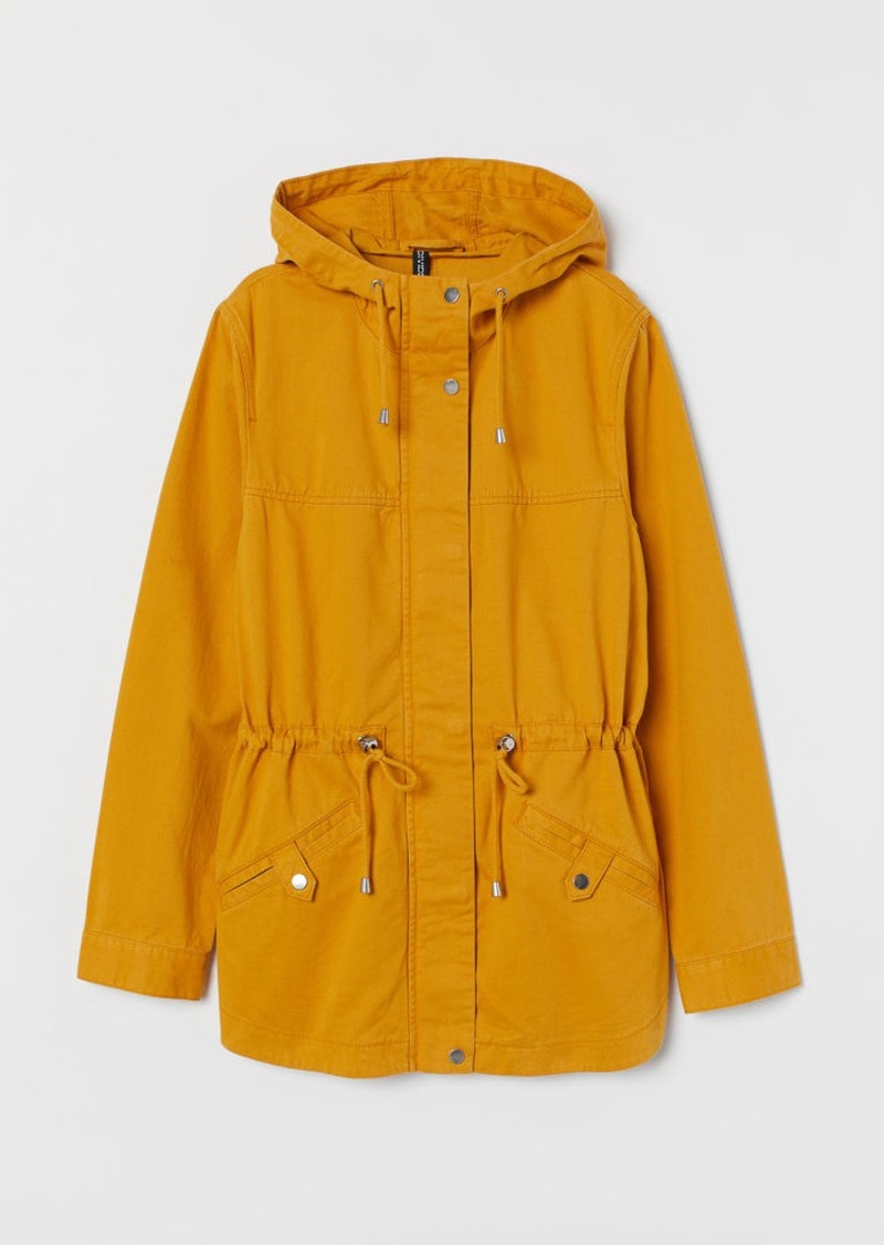 H&M H & M - Short Cotton Parka - Yellow