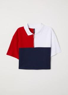 H&M H & M - Short Cotton Piqué T-shirt - Red