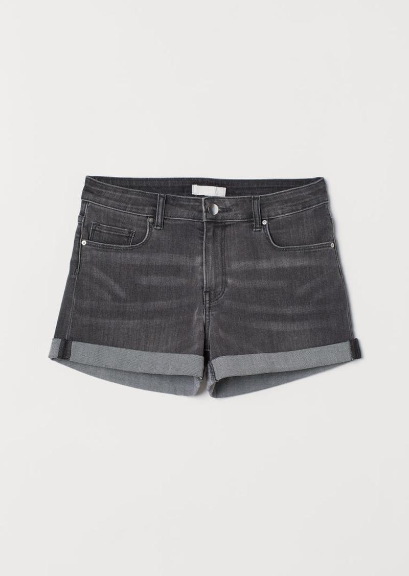 H&M H & M - Short Denim Shorts - Gray