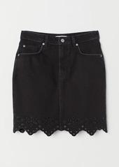 H&M H & M - Short Denim Skirt - Black