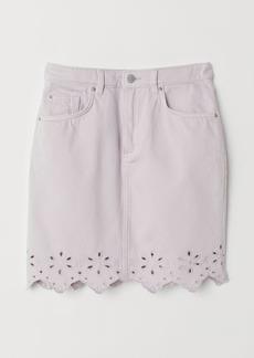 H&M H & M - Short Denim Skirt - Purple