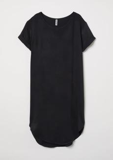 H&M H & M - Viscose T-shirt Dress - Black