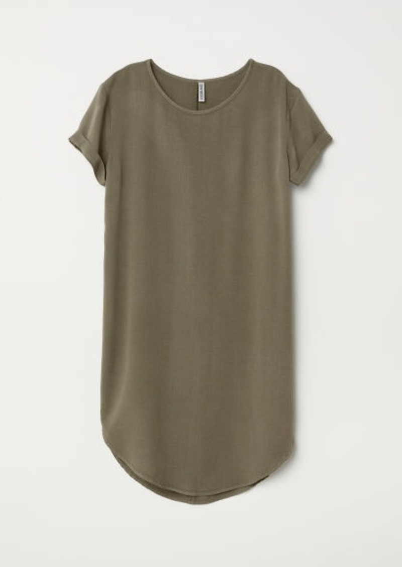 93add756704 H M H   M - Viscose T-shirt Dress - Green