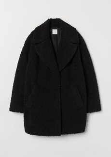 H&M H & M - Short Faux Shearling Coat - Black