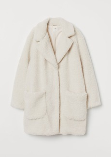 H&M H & M - Short Faux Shearling Coat - White