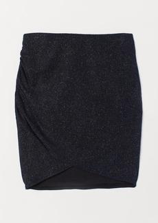 H&M H & M - Short Glittery Skirt - Blue