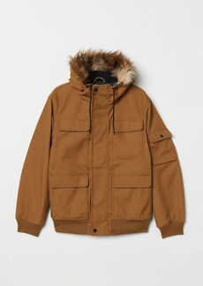 H&M H & M - Short Hooded Jacket - Beige