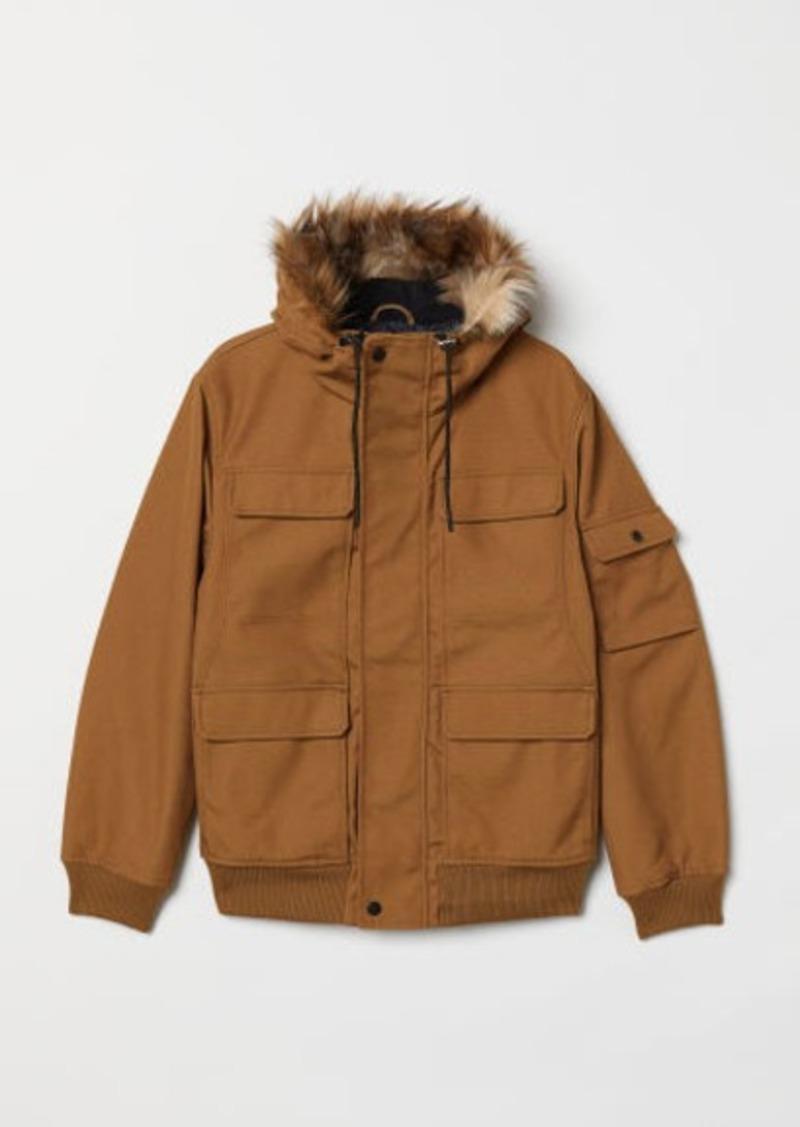 H&M H & M - Short Hooded Jacket - Beige