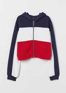 H&M H & M - Short Hooded Jacket - White