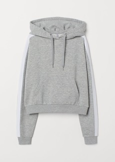 H&M H & M - Short Hooded Sweatshirt - Gray