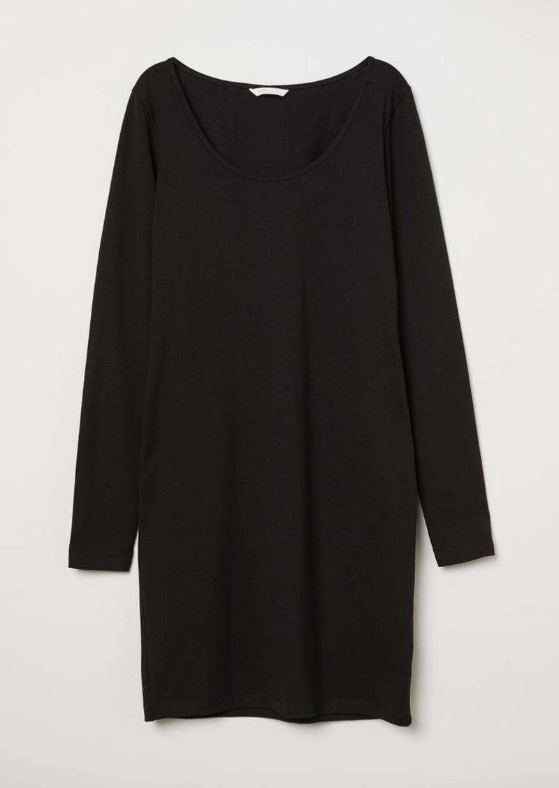 H&M H & M - Short Jersey Dress - Black