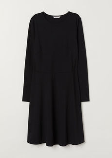 H&M H & M - Long-sleeved Jersey Dress - Black