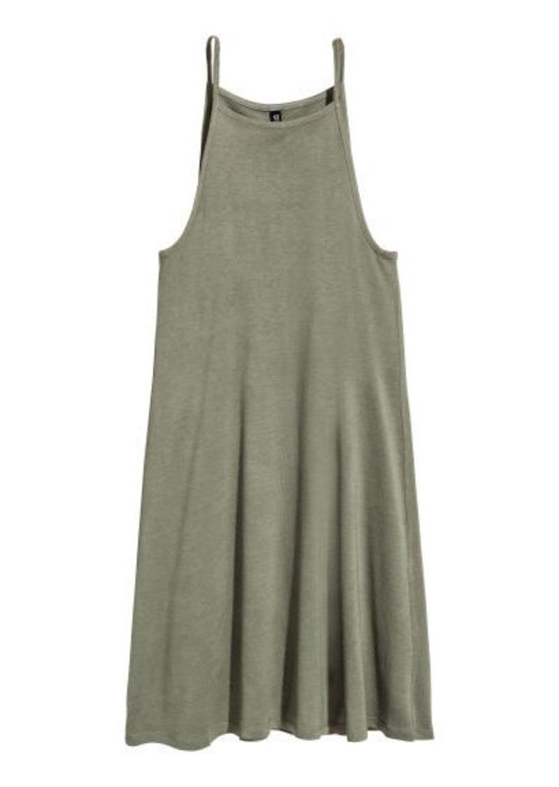 d575a476b4e4 H&M H & M - Short Jersey Dress - Green | Dresses
