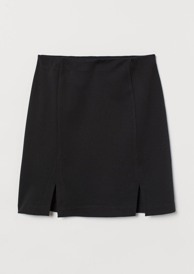 H&M H & M - Short Jersey Skirt - Black