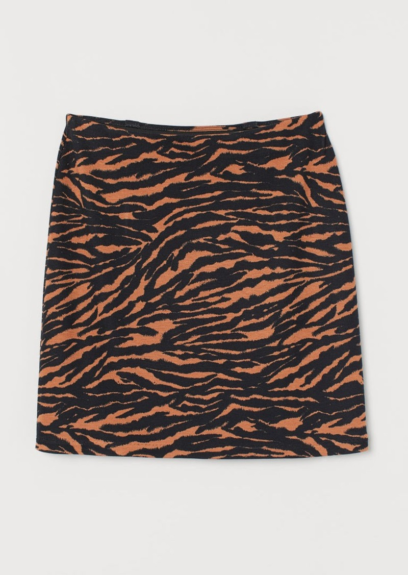 H&M H & M - Short Jersey Skirt - Orange