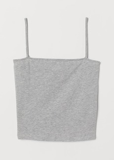 H&M H & M - Short Jersey Top - Gray