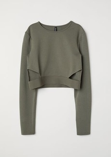 H&M H & M - Short Jersey Top - Green