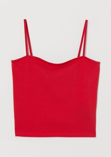 H&M H & M - Short Jersey Top - Red