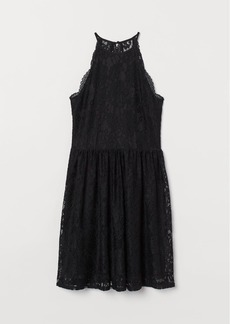 H&M H & M - Short Lace Dress - Black
