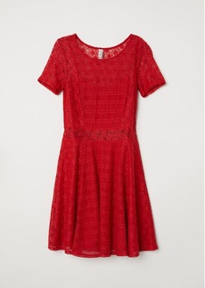 H&M H & M - Short Lace Dress - Red