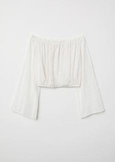 H&M H & M - Short Off-the-shoulder Blouse - White