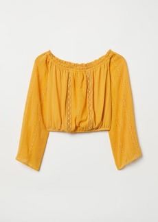H&M H & M - Short Off-the-shoulder Blouse - Yellow