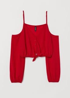 H&M H & M - Short Open-shoulder Top - Red