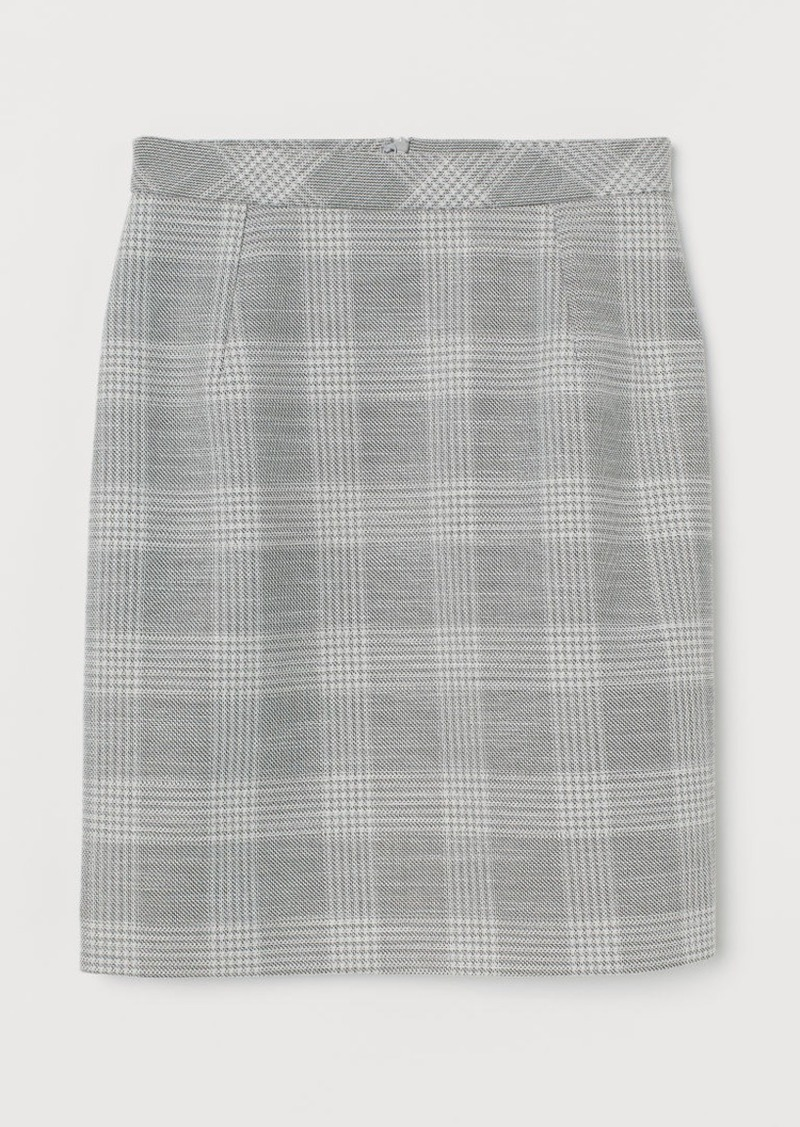 H&M H & M - Short Pencil Skirt - Gray