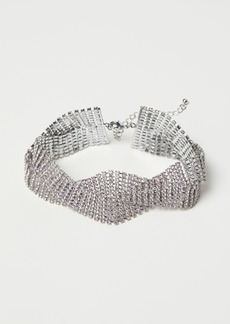 H&M H & M - Short Rhinestone Necklace - Silver